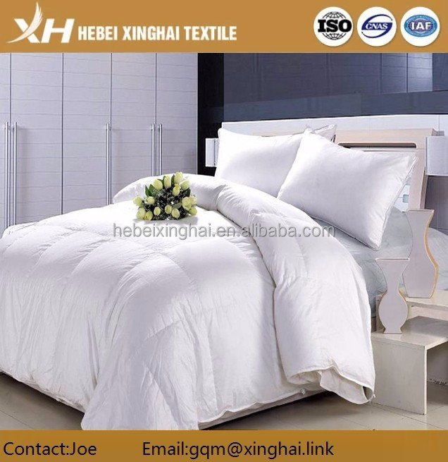 100% Cotton Down Proof Bleached Fabric For Bedding 40s*40s