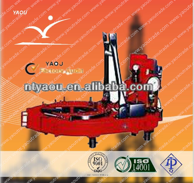 Top quality! API oil rig drilling rig equipment ZQ162-50 DRILL PIPE POWER TONGS