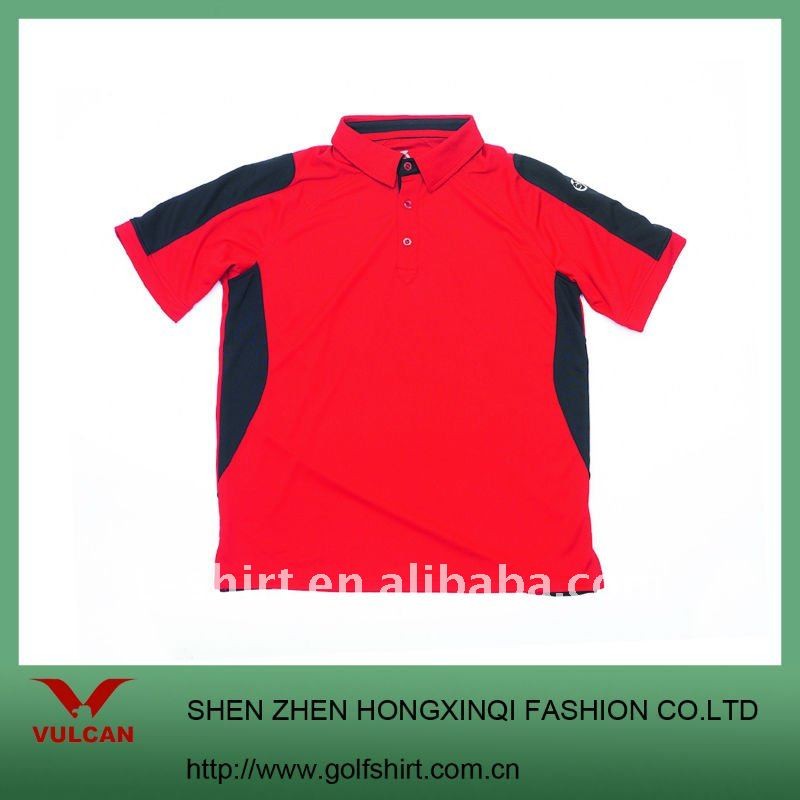New Style Polo shirt with red and black combination color
