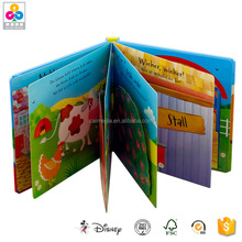 High Quality Kid Activity 3D Coloring Pop-Up Book Printing