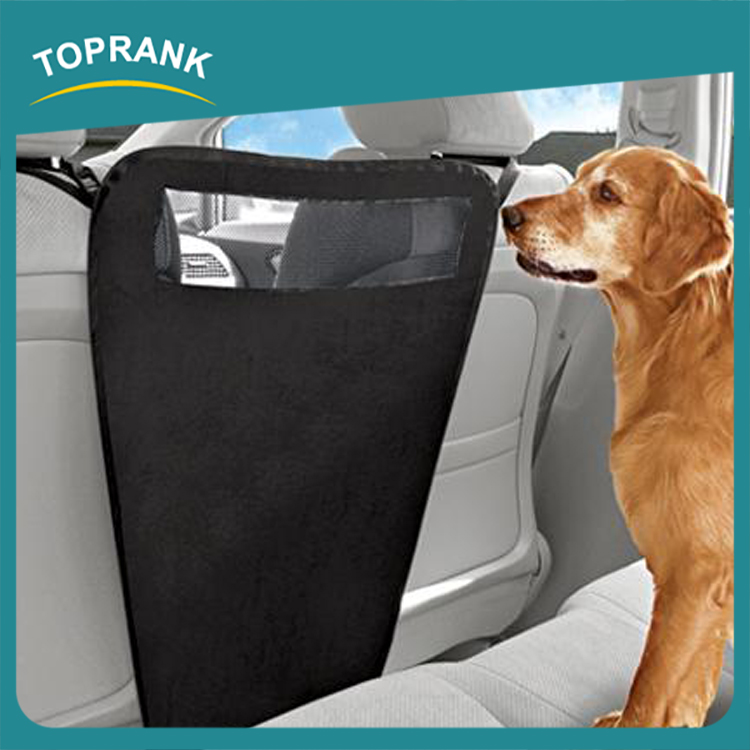 Hot selling as seen on tv dog travel car seat safety barrier portable folding auto pet barrier