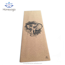 Thick and non slip cork yoga mat with carry strap wholesales