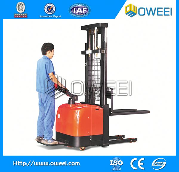 Electri-Forklift mini semi electric forklift stacker with CE for sale