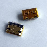 mini HDMI 19P female smt DIP gold-plated connector
