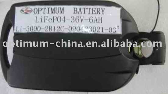 LiFePO4 battery 36V 6Ah for electric bike