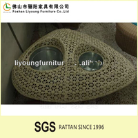 China Guangdong two holes triangle beautiful empty wicker baskets , excellent quality eco-friendly large wicker storage baskets