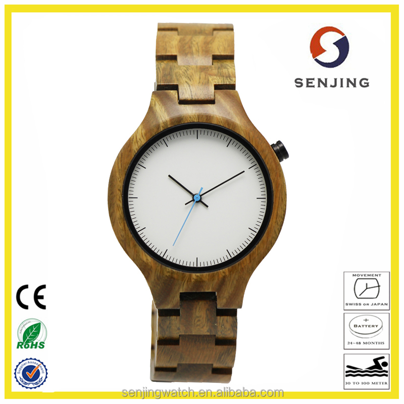 2017 hot sale100% natural wood lady's bewell bobo bird wholesale wood watch with high quality japan quartz movement