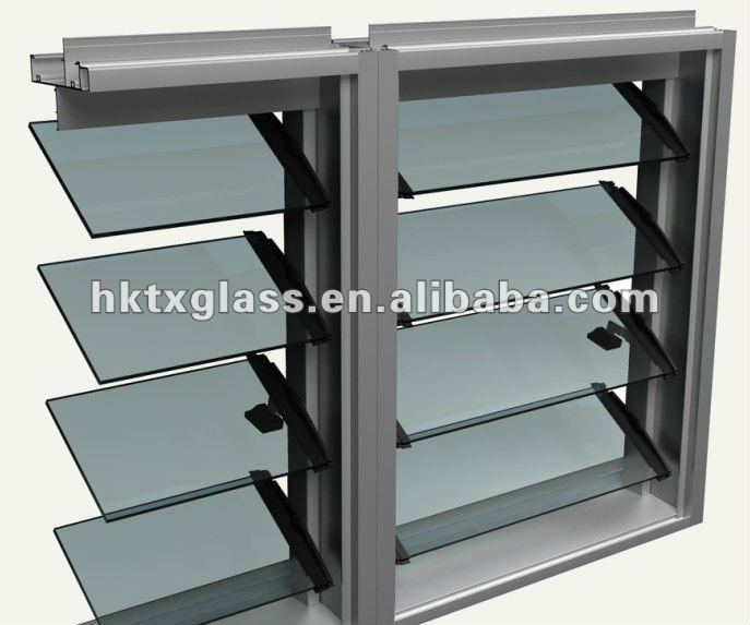 Louver Glass panel / Louver Glass window / toughened glass panel
