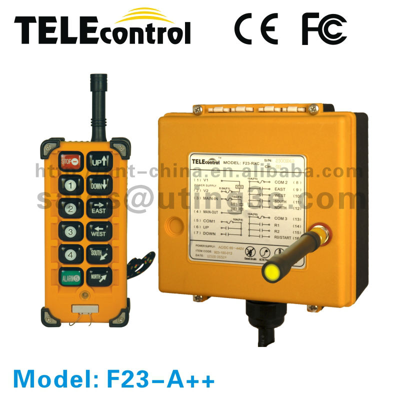 TELEcontrol remote control for cranes F23-A++ controller for electric vehicle/industrial remote crane controls