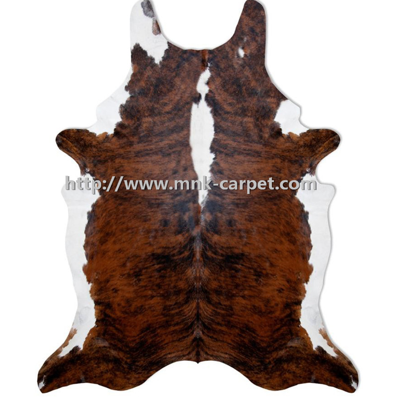 Brown Leather Hair on rugs mats Cowhide rug mat carpet