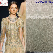 CL4A041-2 fashion style african style french lace macrame lace with stone christmas lace design