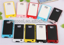 Plate + Color Bumper Frame TPU case Cover For Samsung Galaxy S2 SII i9100 case