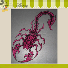 Scorpion embroidery patch pocket design iron on patch