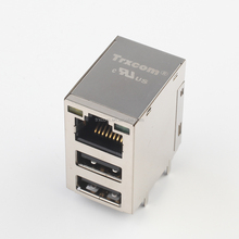 Original Modular RJ45 Connector with Double USB Port
