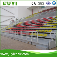 JUYI fire-resistant telescopic folding chair,grandstand seating arena retractable seating system,telescopic bleacher for public