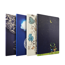 Pu leather Ultra thin magnetic sleep/wake fuction color printing tablet case for Ipad 4