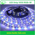 CE/ROHS High lumens 300LEDS White-PCB 12V Waterproof-IP65 RGB+W 5050 LED strip