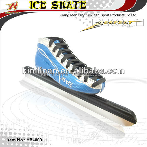 Long track ice speed skate, Speed ice skating with fixed blade