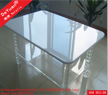 High quality plexiglass coffee and dining table