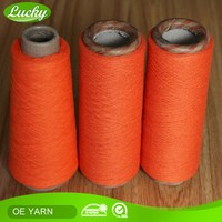 Cnlucky factory regenerated cotton knitting fabric yarn, yarn fabric textile China yarn textile