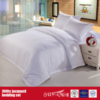 300TC Jacquard Wholesale Bedding Set Hotel Fine Bed Sheet