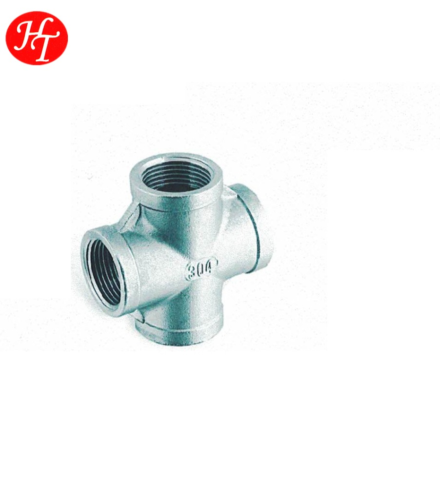 Stainless steel sanitary pipe fitting of cross