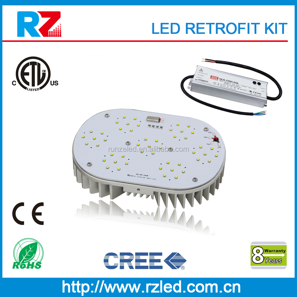 Top quality 8 years warranty ETL/cETL/CE/RoHS led lamp empty housing retrofit kit
