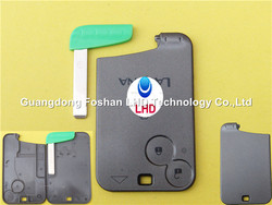 Renault Laguna key card blank 2 button smart case cover with blade