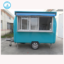 Practical and affordable color pretzel kiosk food truck dimensions/mobile juice van juice bar equipment/fiberglass food cart