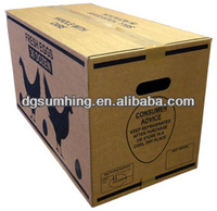 Customized supper large standard corrugated box for eggs