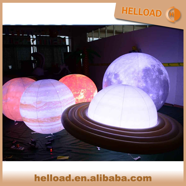 Inflatable Nine Planets/ Earth ball/moon with LED for Event Decoration