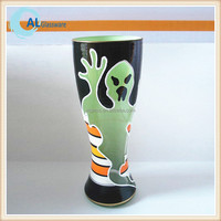 OEM hand painted beer glasses cup, pilsner beer glass