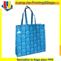 Customized Cheap Logo Plastic PP Woven Shopping Bags With 4C Printing