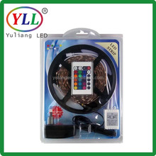 rgb / rgbw /rgb+w 5050 strip kit in blister packaging with remote and UK US AU power supply for home DIY