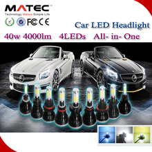 Car Auto Parts LED Xenon Light 80w 8000lm H4 H7 H11 LED Headlights Bulbs