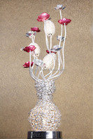 tall aluminum vases table lamp