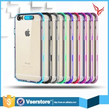 Hot sale transparent cool TPU light up mobile phone back cover case for iphone 5C
