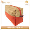 Natural color custom eco beauty cork cosmetic bag,portugal cork fabric fashion makeup cosmetic bag