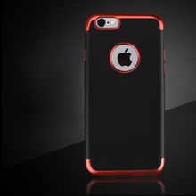 soft tpu black case for iphone 8 mobiles phones covers for iphone 7 3in1 plating case
