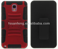 3 in 1 hybrid hard plastic rugged design for samsung galaxy note 3 n9000 cover case