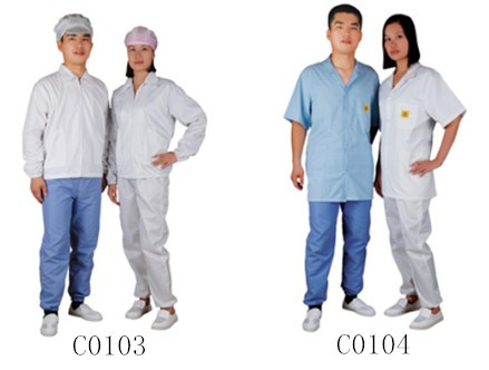 5mm grid style cleanroom ESD coverall,Antistatic jumpsuit