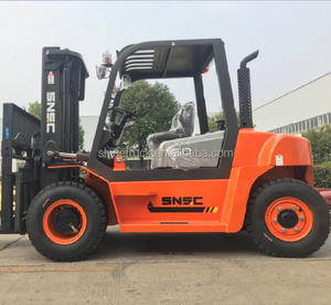 High quality diesel forklift 5 ton with triplex full free lift mast