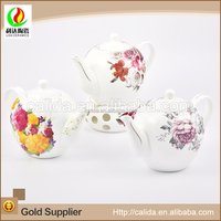 New style fashion logo customized high level ceramic porcelain decal japanese porcelain tea pot