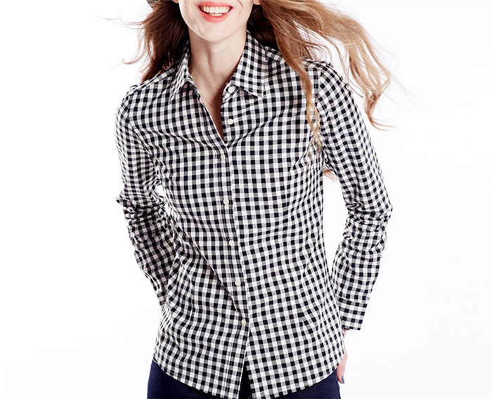 Women Slim fit long sleeve shirt design latest fashion ladies blouse for office 2013