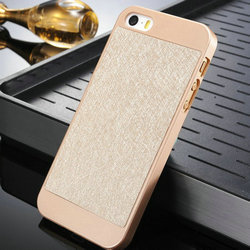 noble golden hard back case PU leather Back cover back phone case for iphone 5 5s 5g