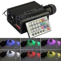 DMX LED 16W RGBW Fiber Optic Led Light Engine With 28Key Remote+200pcs*0.75mm*2m Optical Fiber Diy Kit For Hotel/Club Decoration