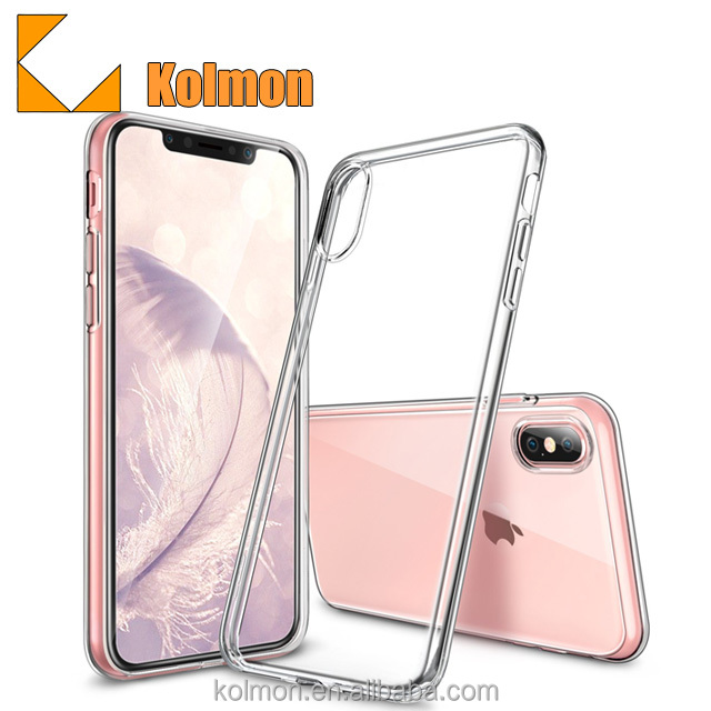 China Manufacturer Custom Plating Free Sample Clear Mobile Phone Case For Iphone X