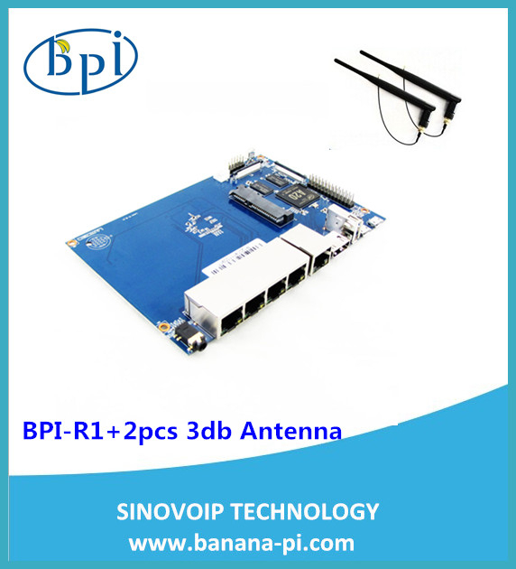 Banana pi router board with 4 gagibits ethernet ports