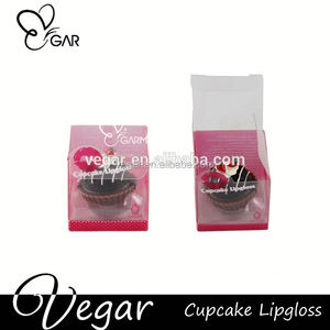 lipstick for children cupcake shape container magic makeup lip gloss