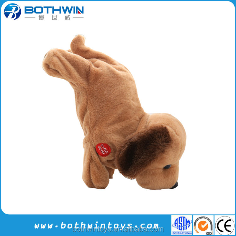 Walking and singing dog mechanical toys plush